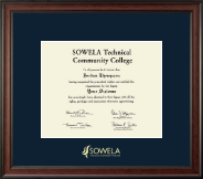 SOWELA Technical Community College Diploma Frame - Gold Embossed Diploma Frame in Studio