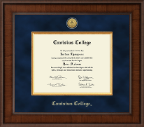 Canisius College Diploma Frame - Presidential Gold Engraved Diploma Frame in Madison