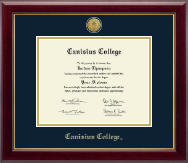 Canisius College Diploma Frame - Gold Engraved Medallion Diploma Frame in Gallery