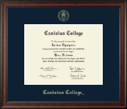 Canisius College Diploma Frame - Gold Embossed Diploma Frame in Studio