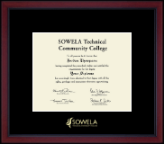 SOWELA Technical Community College Diploma Frame - Gold Embossed Diploma Frame in Academy
