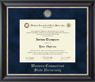Western Connecticut State University Diploma Frame - Regal Edition Diploma Frame in Noir