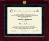 Western Connecticut State University Diploma Frame - Millennium Gold Engraved Diploma Frame in Cordova