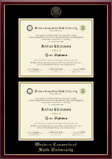 Western Connecticut State University Diploma Frame - Double Diploma Frame in Galleria