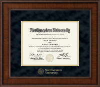 Northwestern University Diploma Frame - Gold Embossed Diploma Frame in Madison