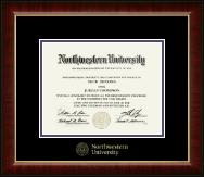 Northwestern University Diploma Frame - Gold Embossed Diploma Frame in Murano