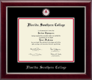 Florida Southern College Diploma Frame - Masterpiece Medallion Diploma Frame in Gallery Silver