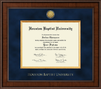 Houston Baptist University Diploma Frame - Presidential Gold Engraved Diploma Frame in Madison