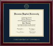 Houston Baptist University Diploma Frame - Gold Embossed Diploma Frame in Gallery