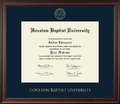 Houston Baptist University Diploma Frame - Gold Embossed Diploma Frame in Studio