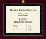 Houston Baptist University Diploma Frame - Millennium Gold Engraved Diploma Frame in Cordova