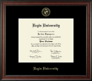 Regis University Diploma Frame - Gold Embossed Diploma Frame in Studio