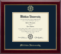 Millikin University Diploma Frame - Gold Embossed Diploma Frame in Gallery