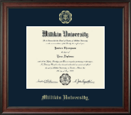 Millikin University Diploma Frame - Gold Embossed Diploma Frame in Studio