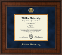 Millikin University Diploma Frame - Presidential Gold Engraved Diploma Frame in Madison