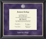 Amherst College Diploma Frame - Regal Edition Diploma Frame in Noir