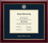 Regis University Diploma Frame - Masterpiece Medallion Diploma Frame in Gallery