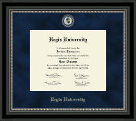 Regis University Diploma Frame - Regal Edition Diploma Frame in Noir