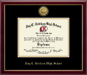 Roy C. Ketcham High School in New York Diploma Frame - Gold Engraved Medallion Diploma Frame in Galleria