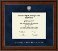 University of North Texas at Dallas Diploma Frame - Presidential Silver Engraved Diploma Frame in Madison