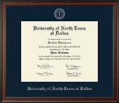 University of North Texas at Dallas Diploma Frame - Silver Embossed Diploma Frame in Studio
