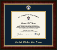United States Air Force Certificate Frame - Masterpiece Medallion Certificate Frame in Murano