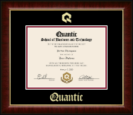 Quantic Diploma Frame - Gold Embossed Diploma Frame in Murano