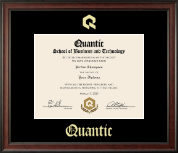 Quantic Diploma Frame - Gold Embossed Diploma Frame in Studio