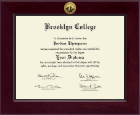 Brooklyn College Diploma Frame - Century Gold Engraved Diploma Frame in Cordova