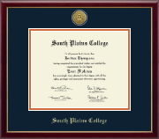 South Plains College Diploma Frame - Gold Engraved Medallion Diploma Frame in Galleria