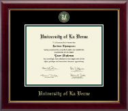 University of La Verne Diploma Frame - Masterpiece Medallion Diploma Frame in Gallery