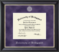 University of Bridgeport Diploma Frame - Regal Edition Diploma Frame in Midnight