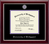 University of Bridgeport Diploma Frame - Masterpiece Medallion Diploma Frame in Gallery Silver