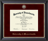 University of Massachusetts Amherst Diploma Frame - Regal Edition Diploma Frame in Noir