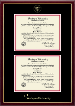 Wesleyan University Diploma Frame - Double Diploma Frame in Galleria