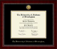 The University of Alabama at Birmingham Diploma Frame - Gold Engraved Medallion Diploma Frame in Sutton