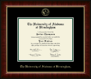 The University of Alabama at Birmingham Diploma Frame - Gold Embossed Diploma Frame in Murano