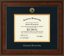 Cameron University Diploma Frame - Presidential Gold Engraved Diploma Frame in Madison