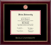 Biola University Diploma Frame - Masterpiece Medallion Diploma Frame in Gallery