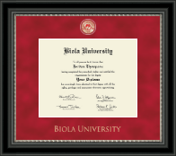 Biola University Diploma Frame - Regal Edition Diploma Frame in Midnight