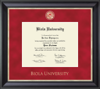 Biola University Diploma Frame - Regal Edition Diploma Frame in Noir
