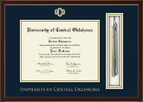 University of Central Oklahoma Diploma Frame - Tassel Edition Diploma Frame in Omega