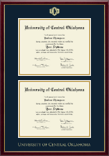 University of Central Oklahoma Diploma Frame - Double Diploma Frame in Galleria