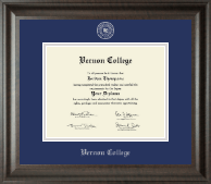 Vernon College Diploma Frame - Silver Embossed Diploma Frame in Acadia