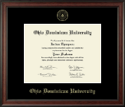 Ohio Dominican University Diploma Frame - Gold Embossed Diploma Frame in Studio