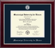 Mississippi University for Women Diploma Frame - Masterpiece Medallion Diploma Frame in Gallery Silver
