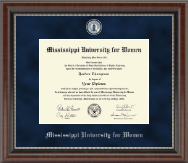 Mississippi University for Women Diploma Frame - Regal Edition Diploma Frame in Chateau