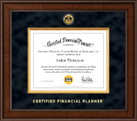 Certified Financial Planner Certificate Frame - Presidential Gold Engraved Certificate Frame in Madison