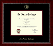 DeAnza College Diploma Frame - Gold Embossed Diploma Frame in Sutton