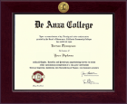 DeAnza College Diploma Frame - Century Gold Engraved Diploma Frame in Cordova
